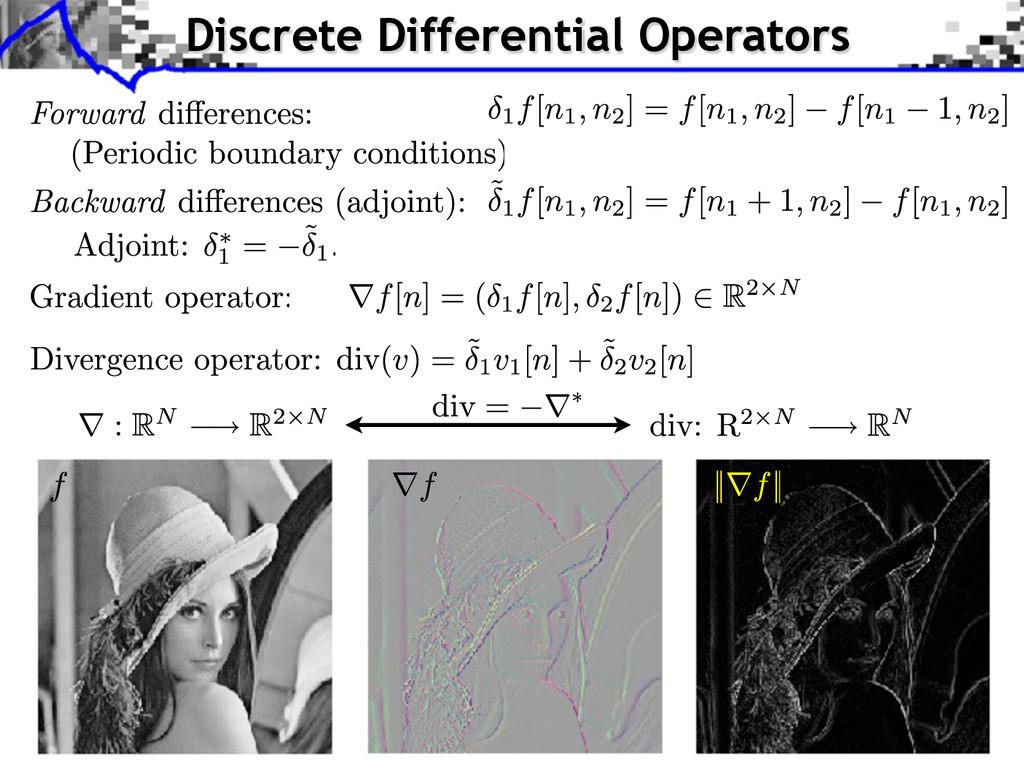 Discrete Differential Operators