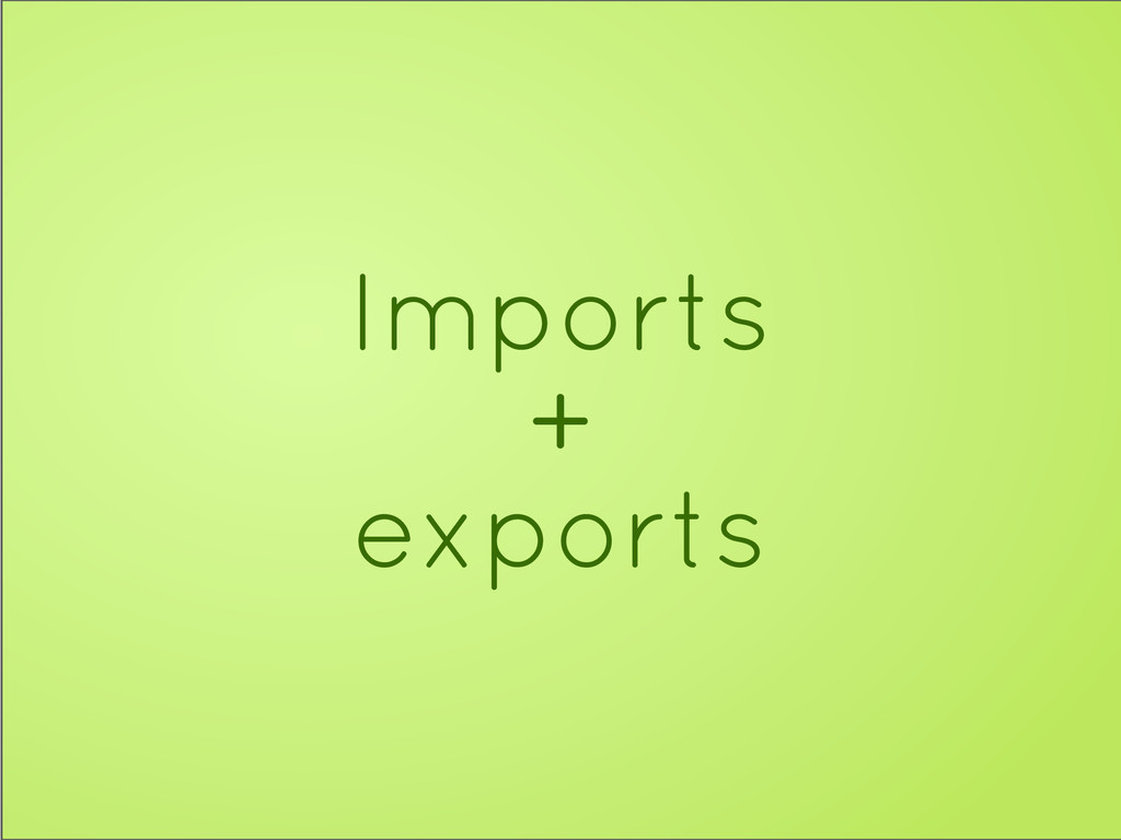 Imports + exports