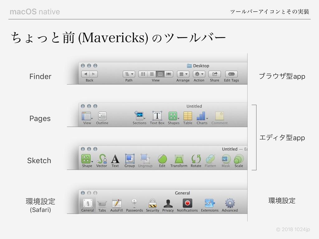 macOS native πʔϧόʔΞΠίϯͱͦͷ࣮ © 2018 1024jp ͪΐͬͱલ...