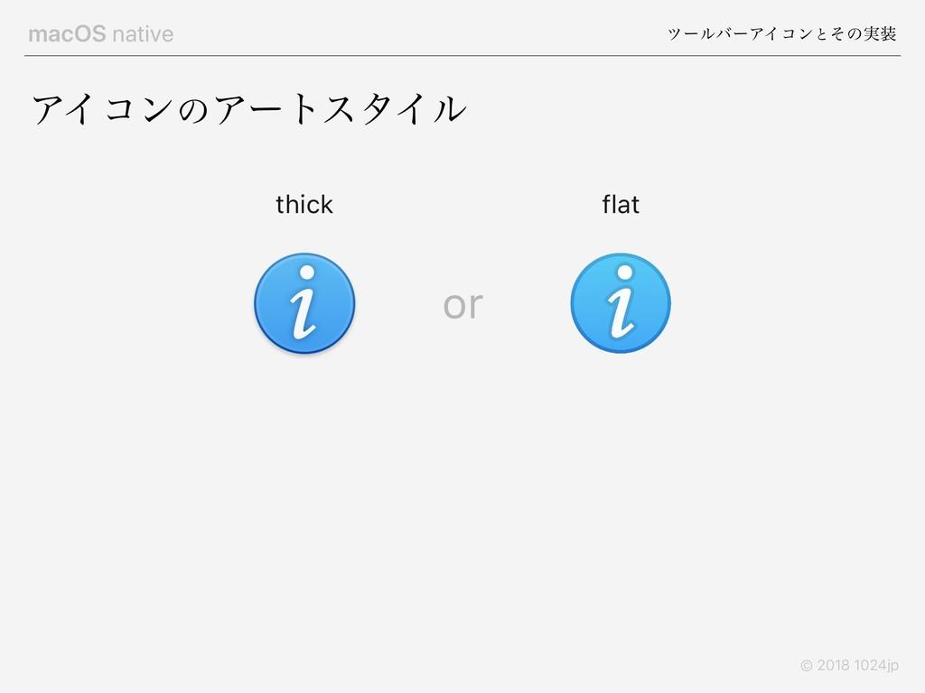 macOS native πʔϧόʔΞΠίϯͱͦͷ࣮ © 2018 1024jp ΞΠίϯͷ...