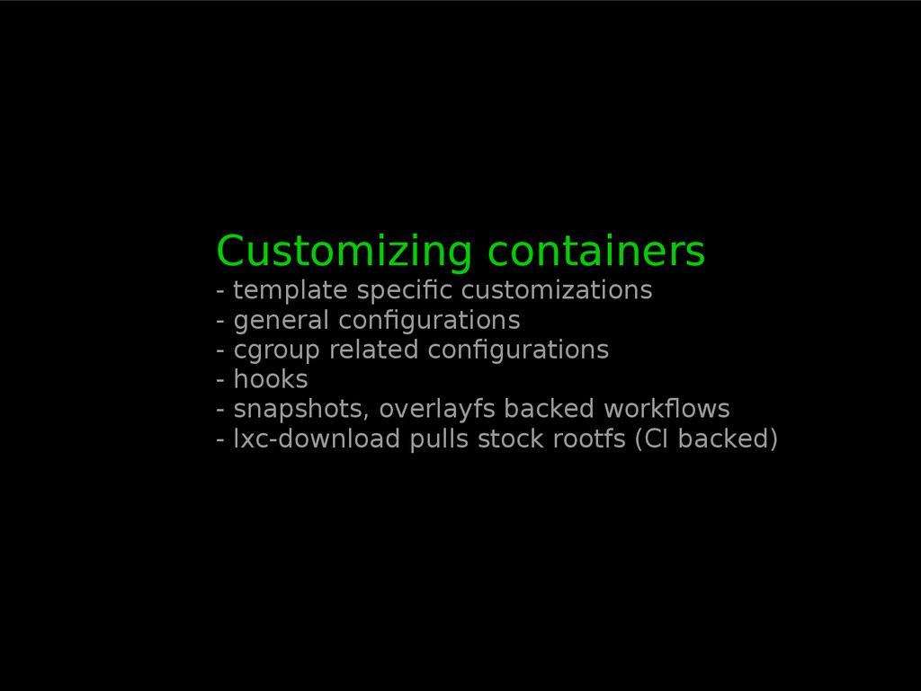 Customizing containers - template specific cust...