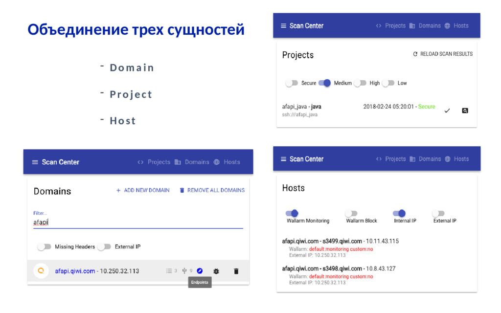 Объединение трех сущностей - Domain - Project -...