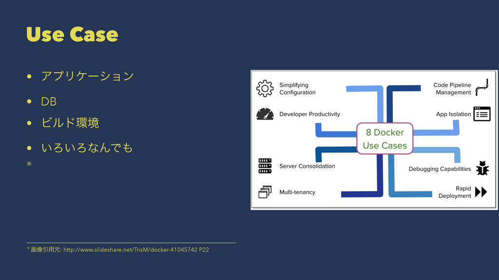 Use Case • ΞϓϦέʔγϣϯ • DB • Ϗϧυڥ • ͍Ζ͍ΖͳΜͰ ※ ※...