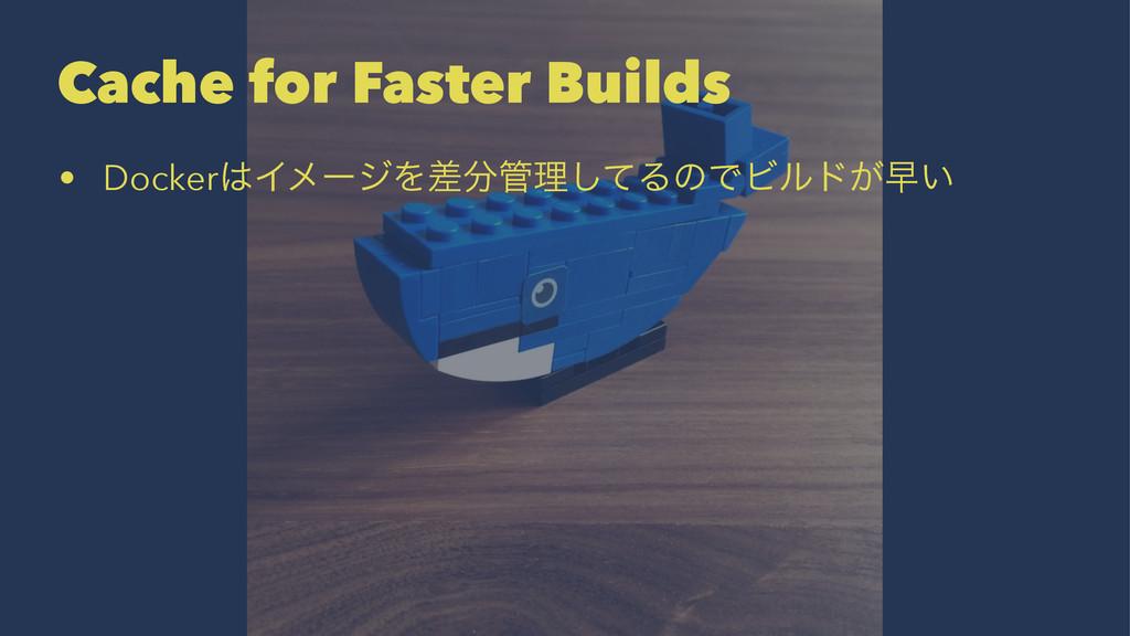 Cache for Faster Builds • DockerΠϝʔδΛࠩཧͯ͠ΔͷͰ...