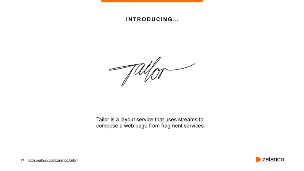 1 7 INTRODUCING … Tailor is a layout service th...