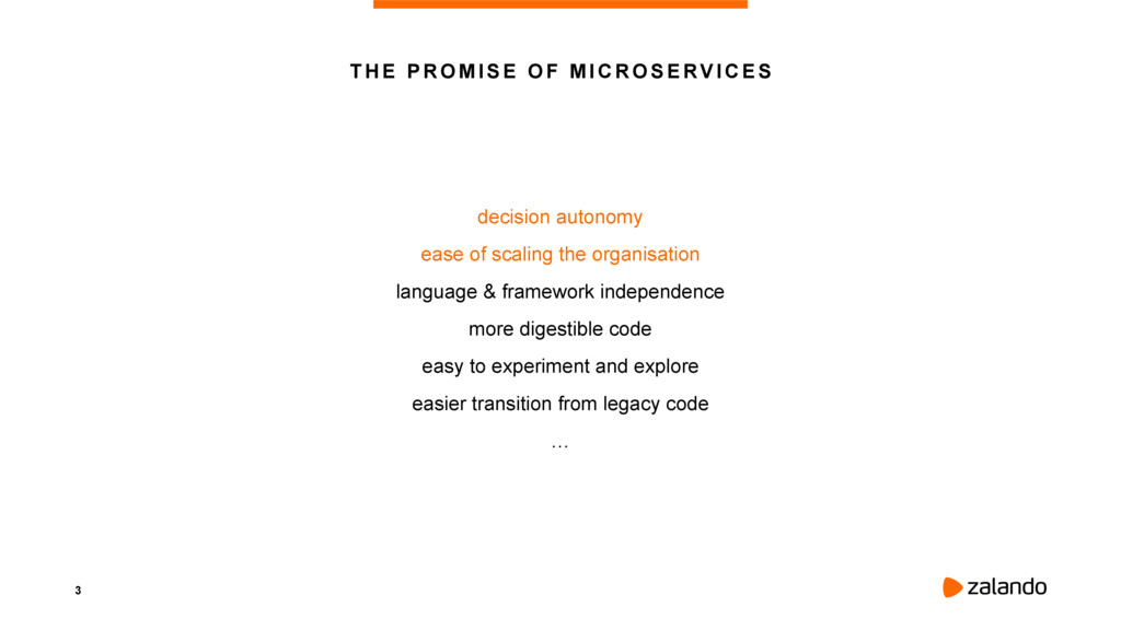 3 THE PROMISE OF MICROSERVICES decision autonom...