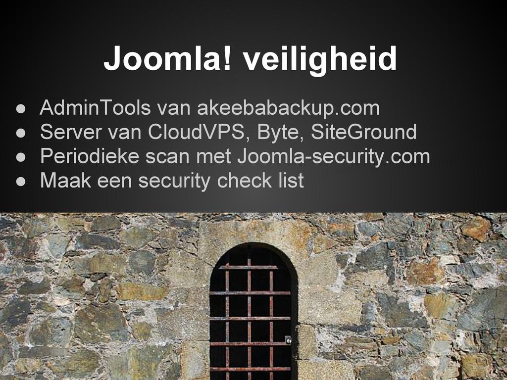 ● AdminTools van akeebabackup.com ● Server van ...