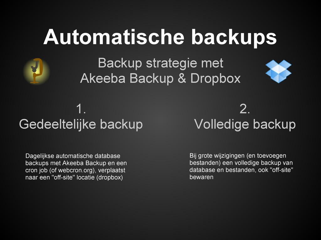Backup strategie met Akeeba Backup & Dropbox Au...