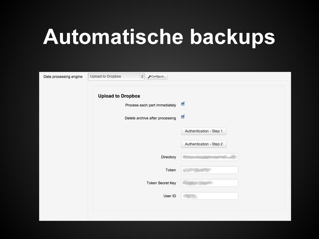 Automatische backups