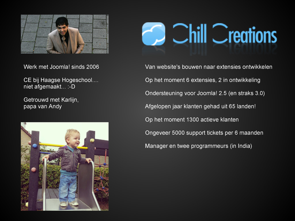 Werk met Joomla! sinds 2006 CE bij Haagse Hoges...