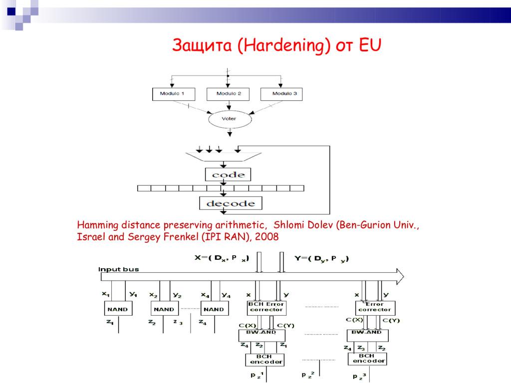 Защита (Hardening) от EU Hamming distance prese...