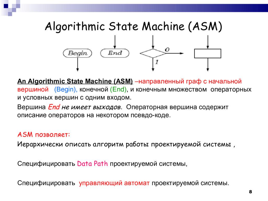8 Algorithmic State Machine (ASM) An Algorithmi...