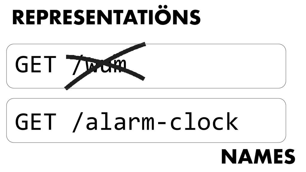 GET /wum GET /alarm-clock
