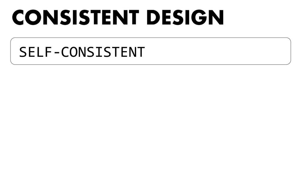 SELF-CONSISTENT