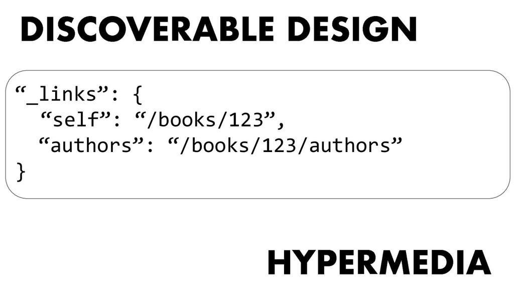 """_links"": { ""self"": ""/books/123"", ""authors"": ""/..."