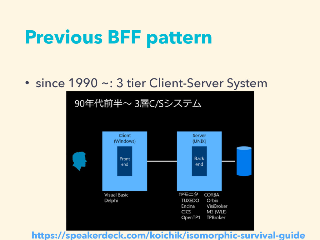 Previous BFF pattern • since 1990 ~: 3 tier Cli...