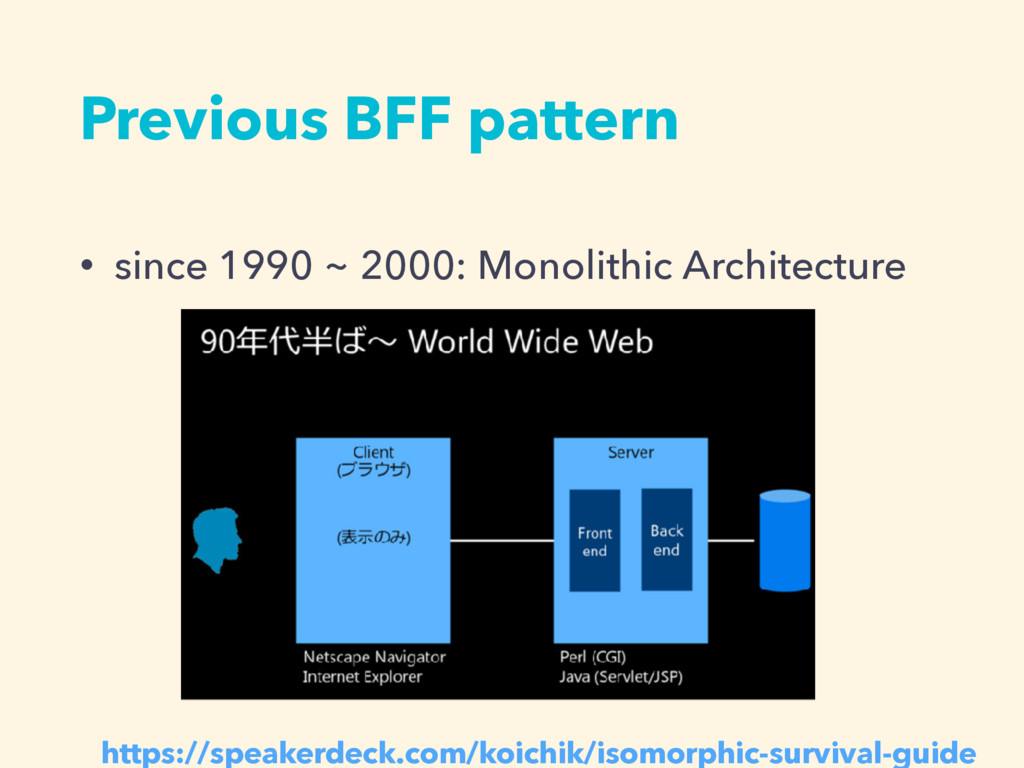 Previous BFF pattern • since 1990 ~ 2000: Monol...