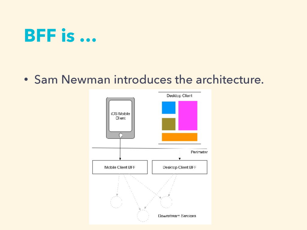 BFF is … • Sam Newman introduces the architectu...