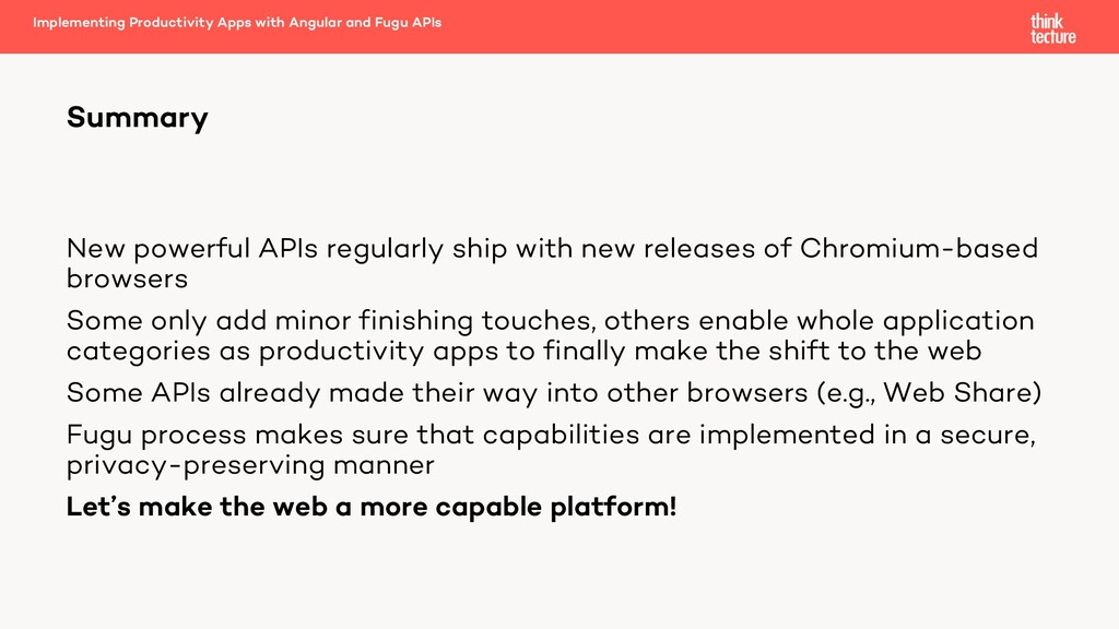New powerful APIs regularly ship with new relea...