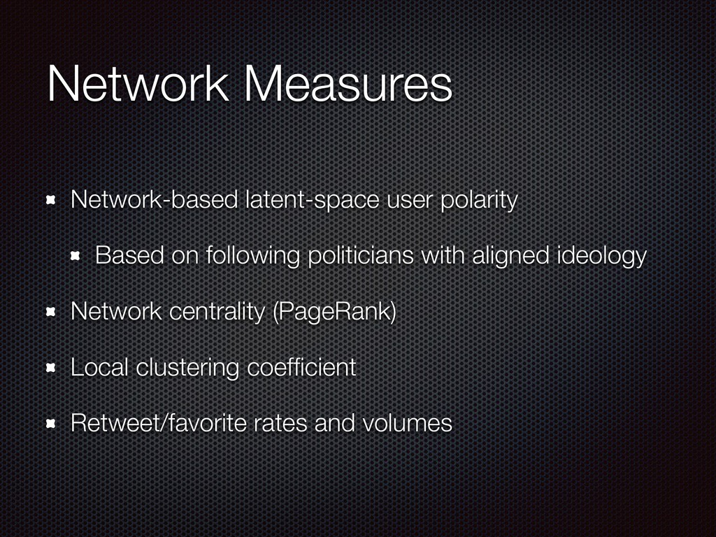 Network Measures Network-based latent-space use...