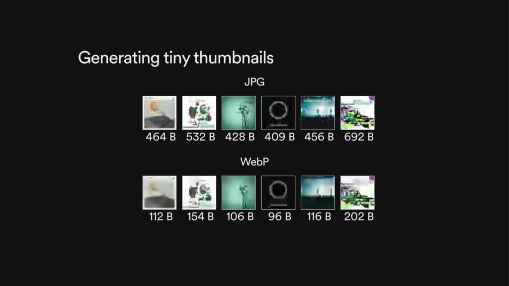 Generating tiny thumbnails JPG 464 B 532 B 428 ...