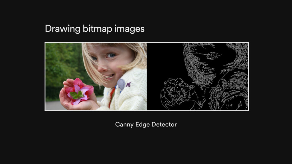 Drawing bitmap images Canny Edge Detector