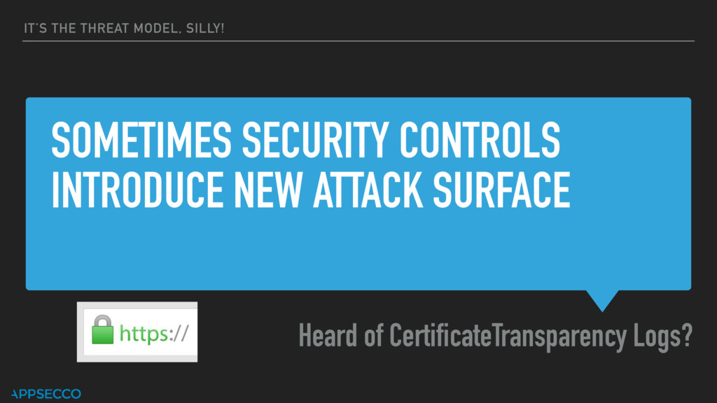 SOMETIMES SECURITY CONTROLS INTRODUCE NEW ATTAC...