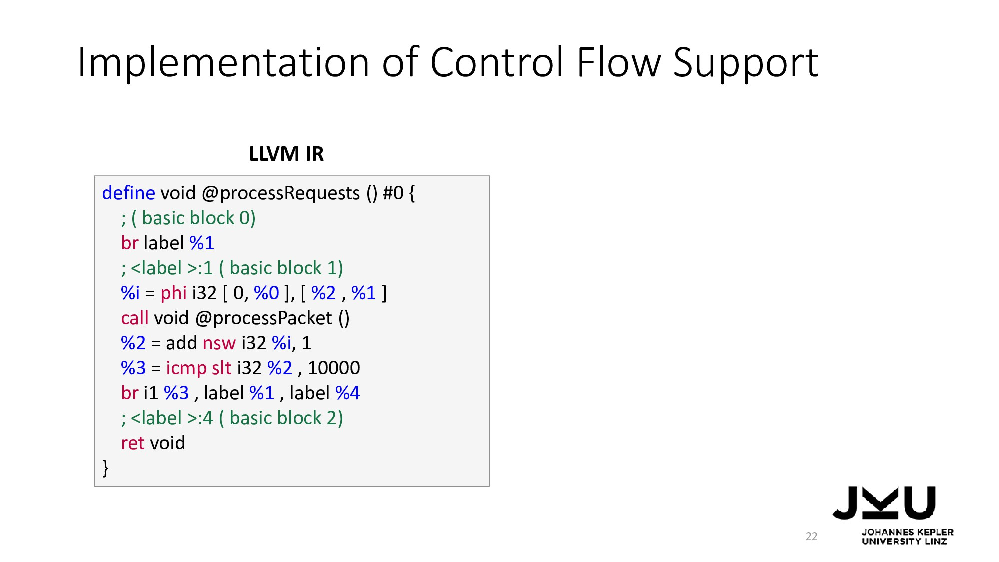 Implementation of Control Flow Support 22 defin...