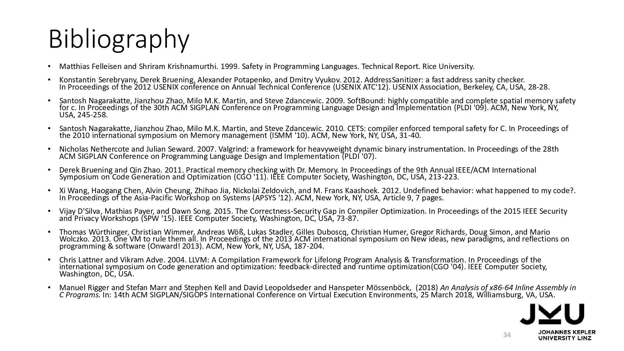 Bibliography • Matthias Felleisen and Shriram K...