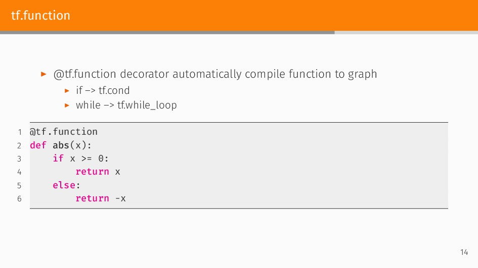 tf.function ▶ @tf.function decorator automatica...