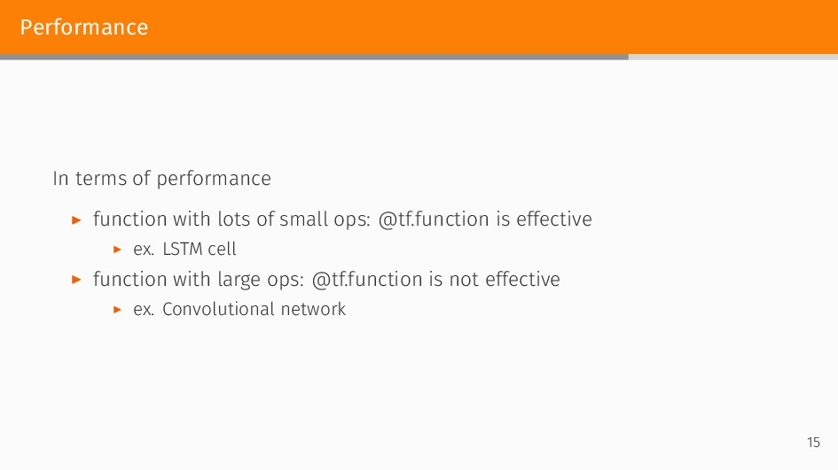 Performance In terms of performance ▶ function ...