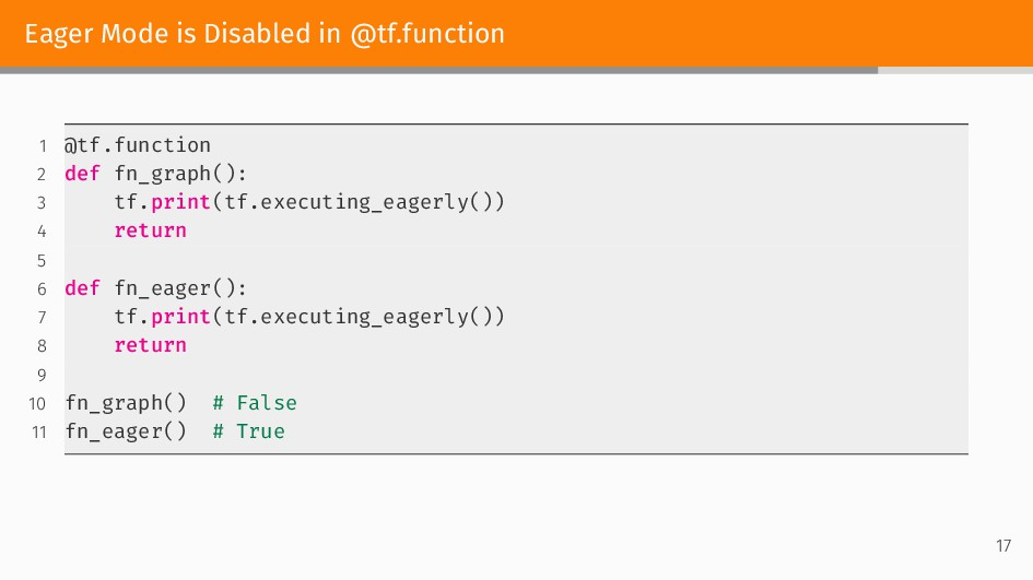 Eager Mode is Disabled in @tf.function 1 @tf.fu...