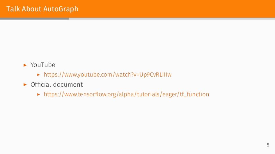 Talk About AutoGraph ▶ YouTube ▶ https://www.yo...