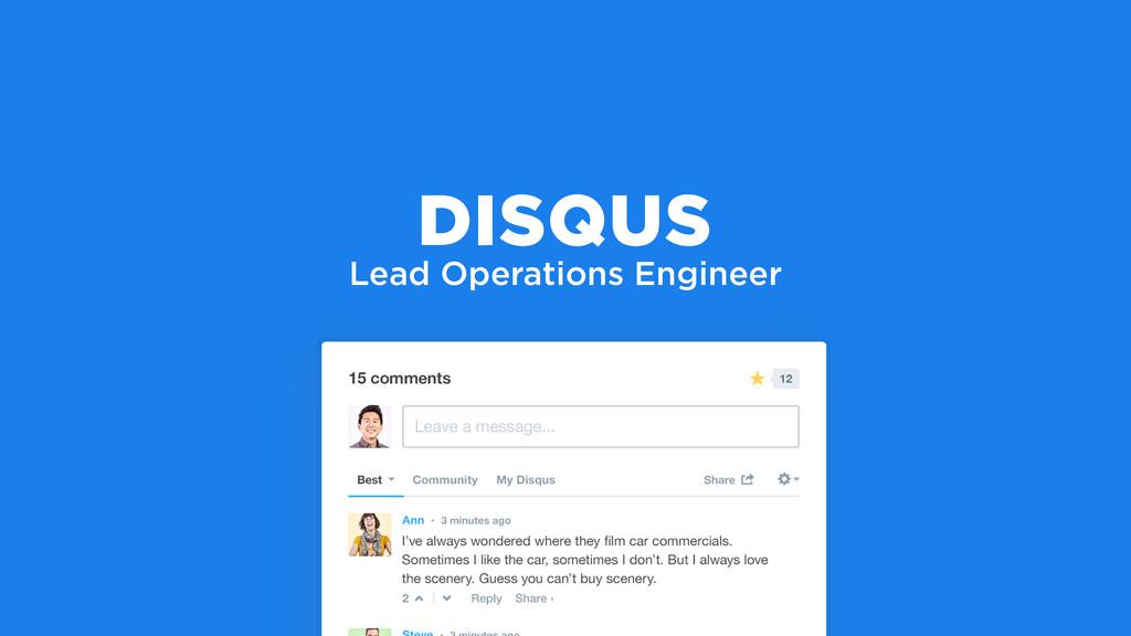 Lead Operations Engineer