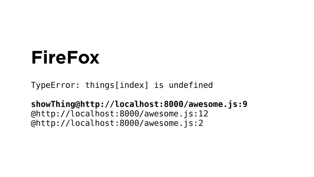 FireFox ! TypeError: things[index] is undefined...