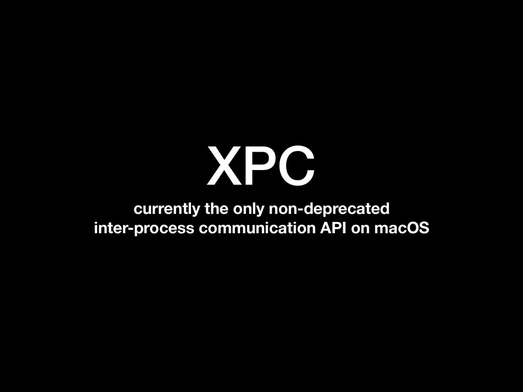 XPC currently the only non-deprecated inter-pro...