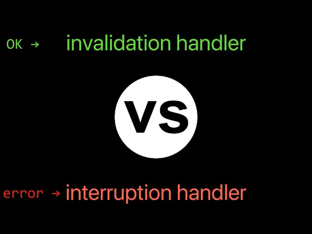 invalidation handler interruption handler error...