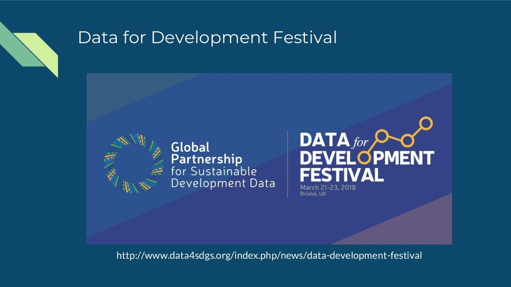 Data for Development Festival http://www.data4s...