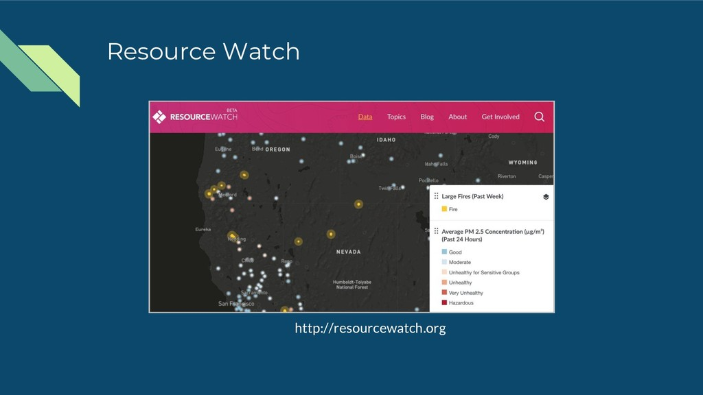 Resource Watch http://resourcewatch.org