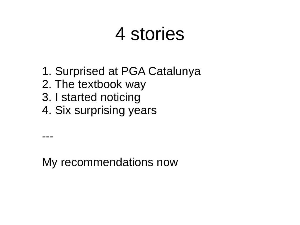 4 stories 1. Surprised at PGA Catalunya 2. The ...
