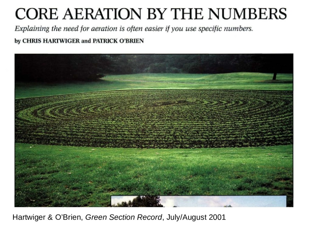 Hartwiger & O'Brien, Green Section Record, July...