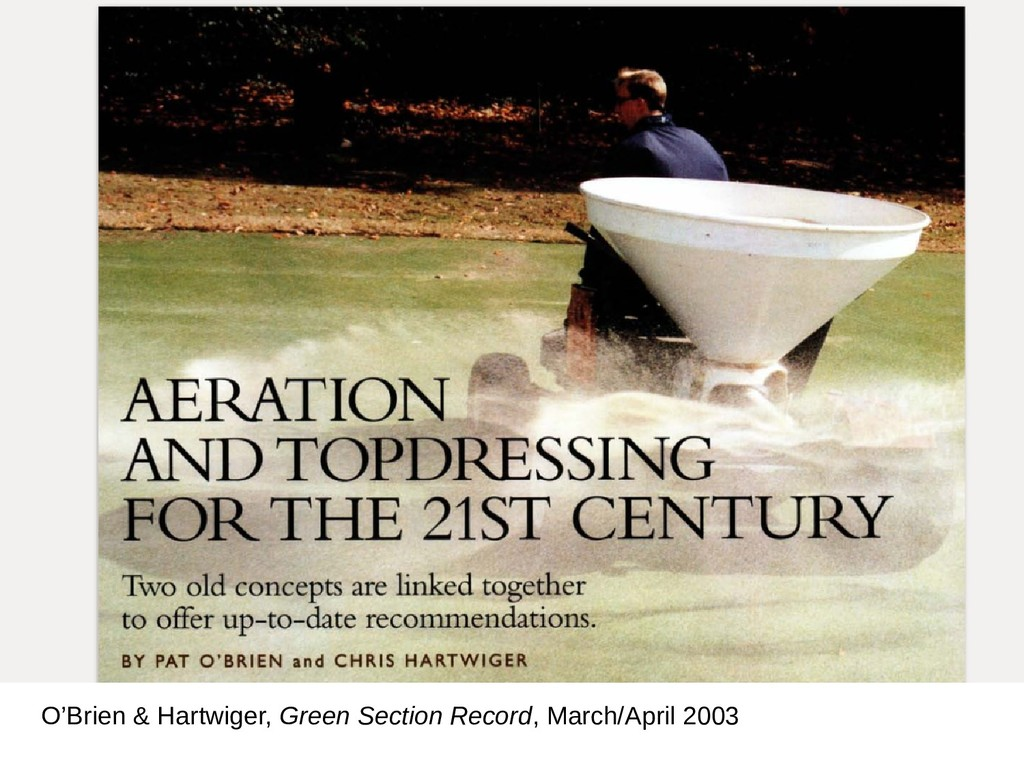 O'Brien & Hartwiger, Green Section Record, Marc...