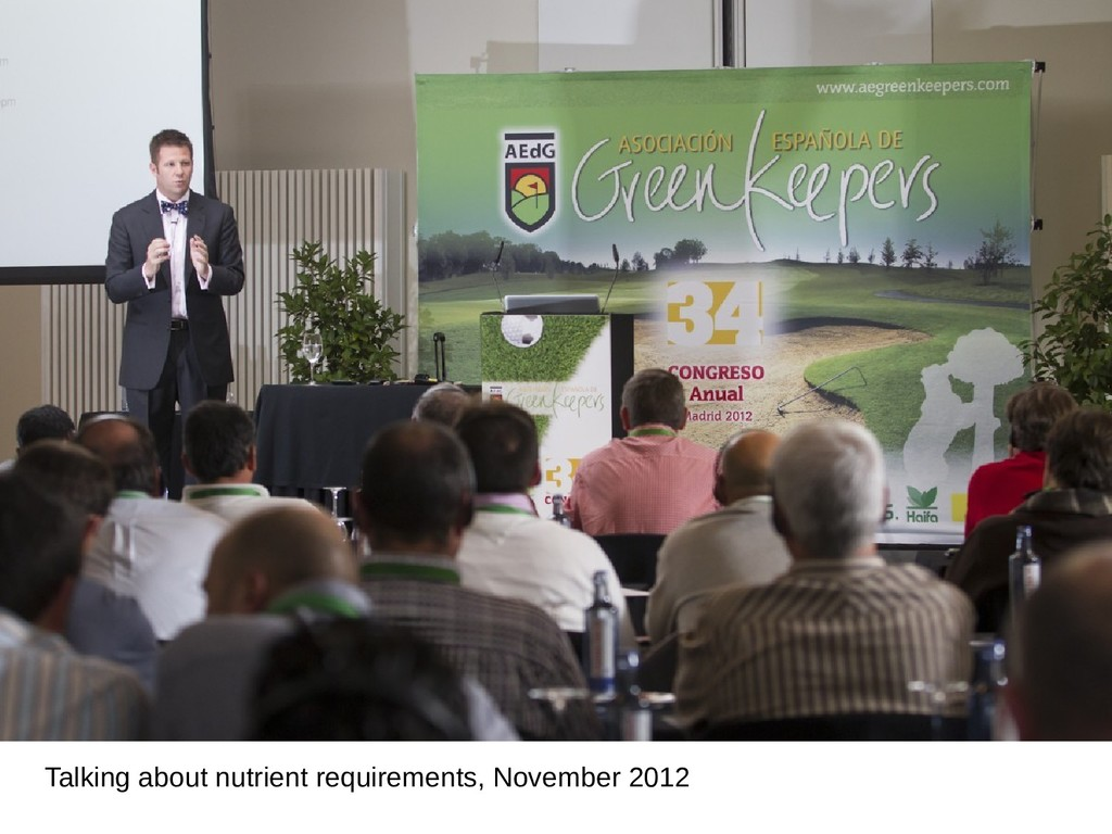Talking about nutrient requirements, November 2...