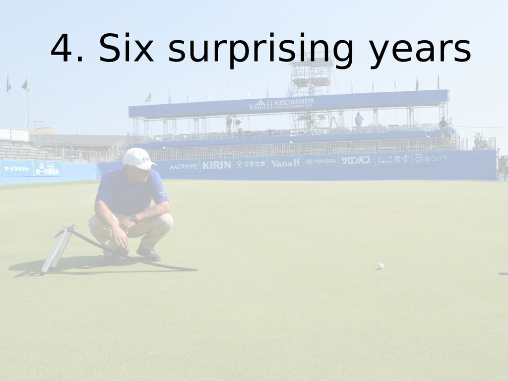 4. Six surprising years