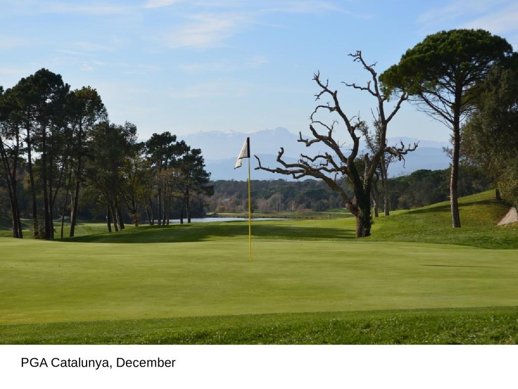 PGA Catalunya, December