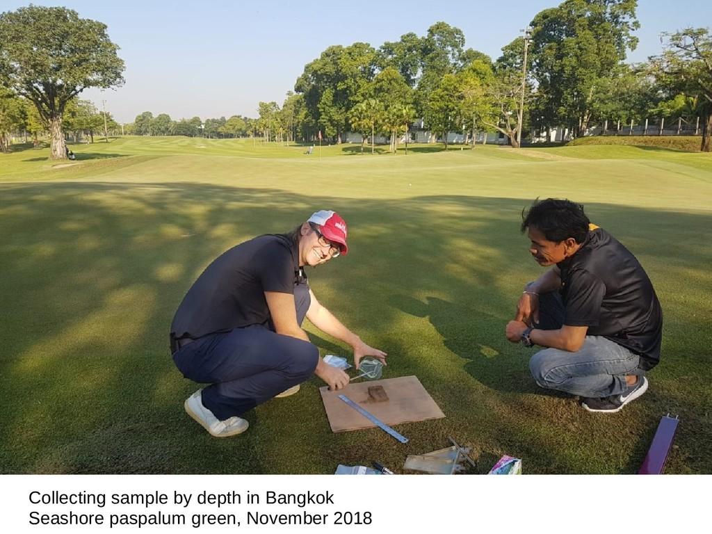 Collecting sample by depth in Bangkok Seashore ...