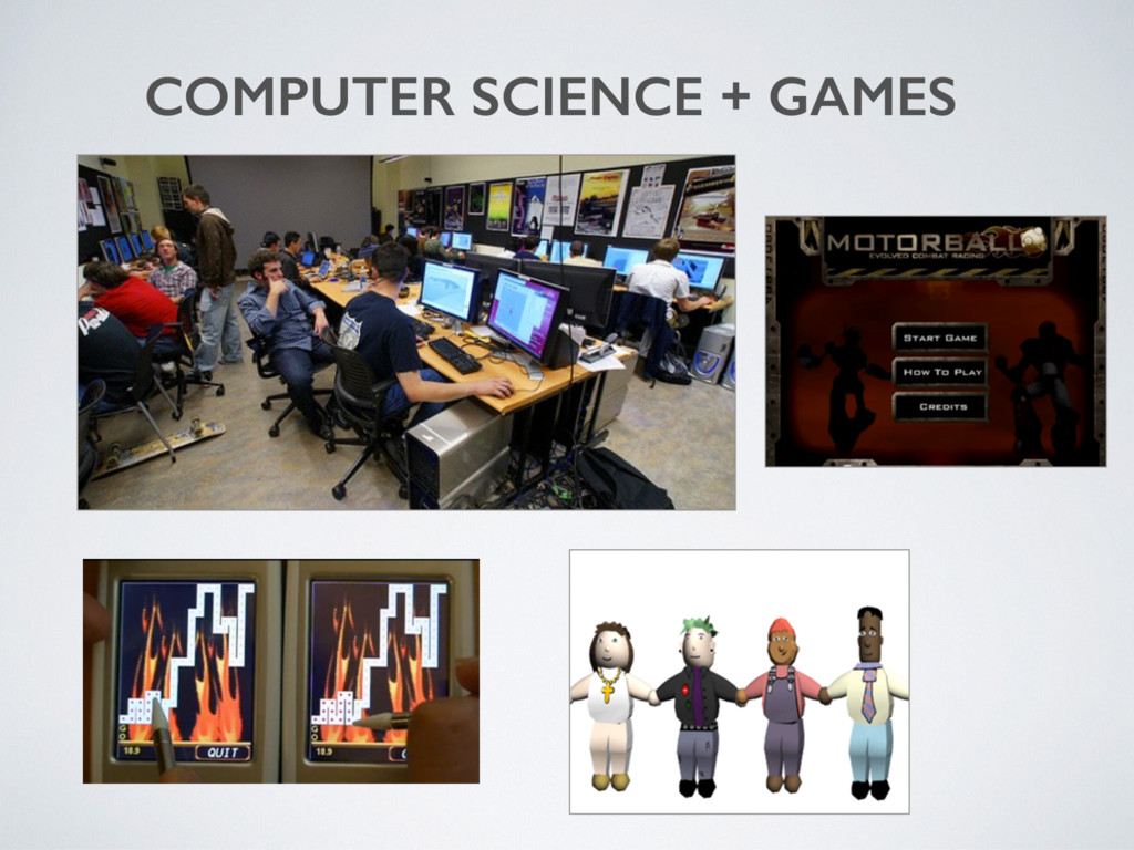 COMPUTER SCIENCE + GAMES