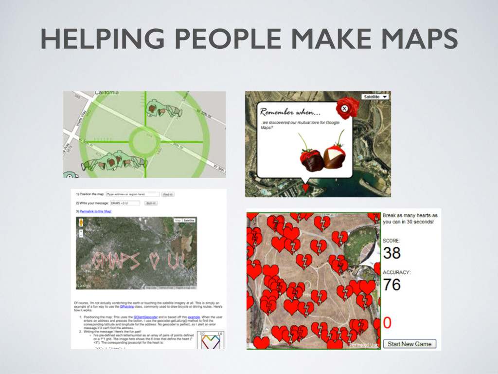 HELPING PEOPLE MAKE MAPS