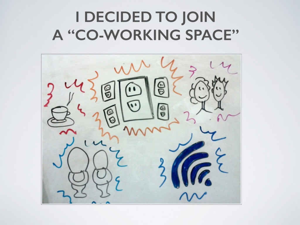 """I DECIDED TO JOIN A """"CO-WORKING SPACE"""""""
