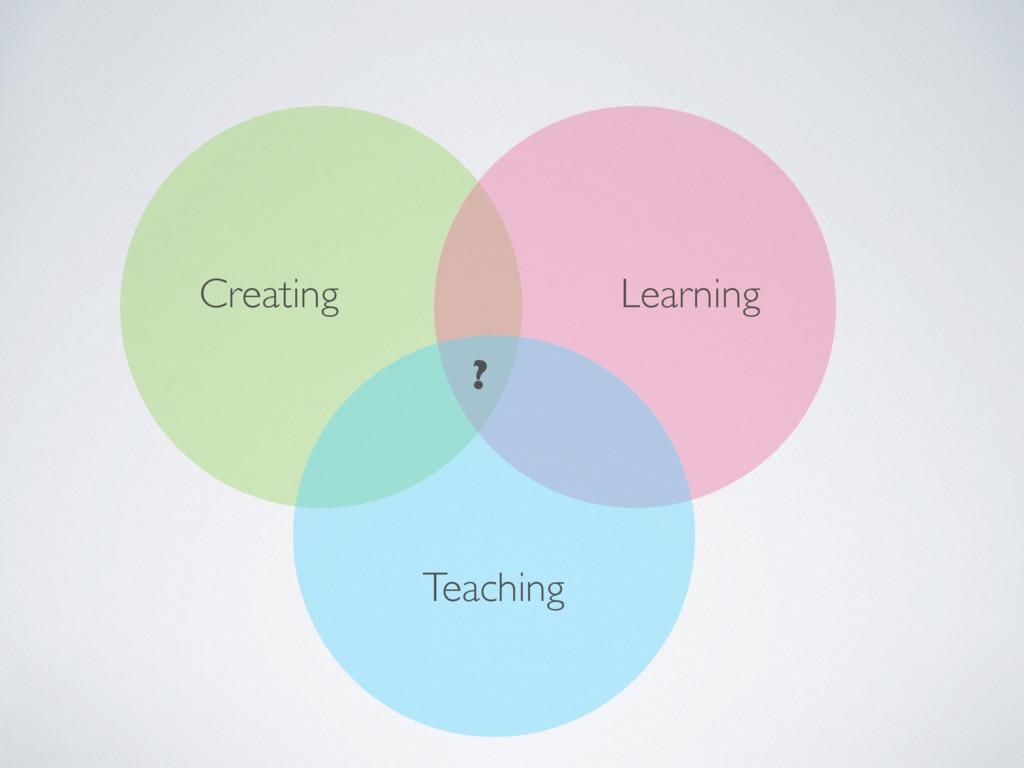 Creating Teaching Learning ?